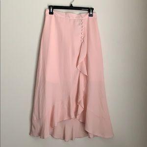 ASOS | NWT pink flutter high low skirt